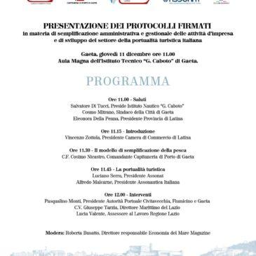 Conferenza Sviluppo della portualità turistica italiana. Appuntamento a Gaeta