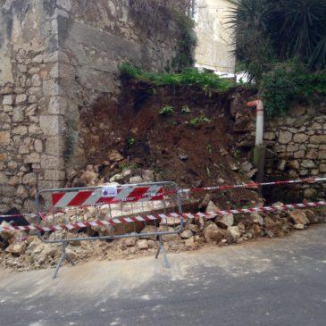 Gaeta, Frana in via della Breccia: Strada riaperta al pubblico