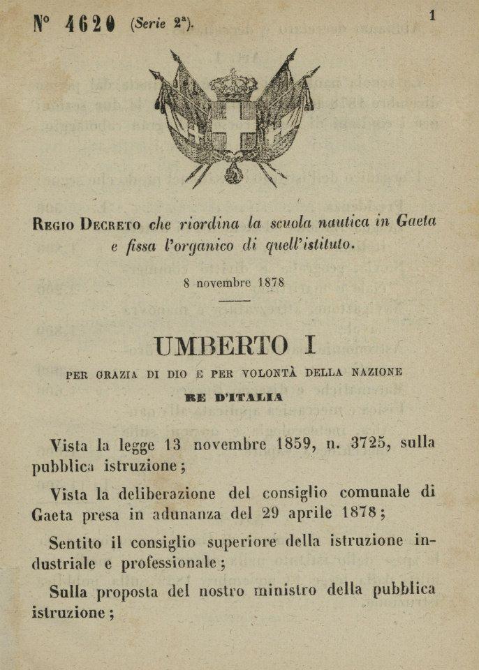 REGIO DECRETO del 8 novembre 1878_1
