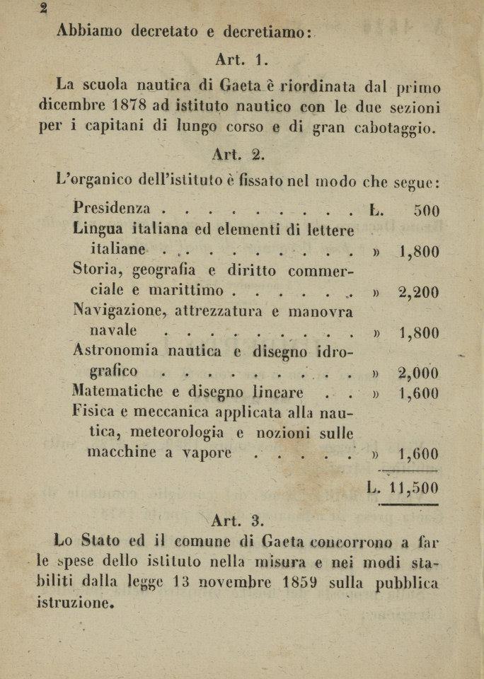REGIO DECRETO del 8 novembre 1878_2