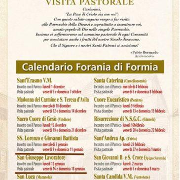 Arcidiocesi di Gaeta: ecco il calendario delle visite pastorali