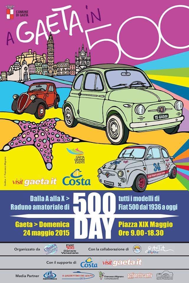 500 day cinquecento day gaeta raduno auto epoca fiat 500 gaeta copertina