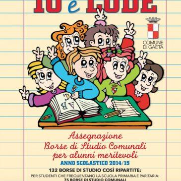 Studenti Dieci e Lode: Gaeta premia l'eccellenza scolastica