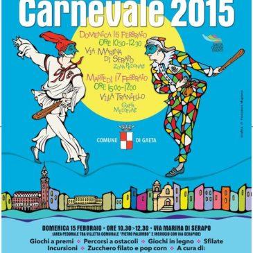 Gaeta Carnevale 2015: Gaeta a Colori giochi, zucchero filato, pop corn, sfilate e tanto divertimento per i più piccoli