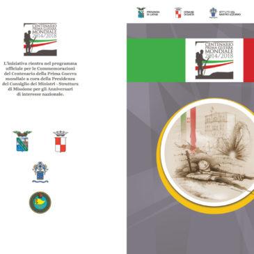 Centenario Prima Guerra Mondiale: Al via le Commemorazioni Ufficiali a Gaeta