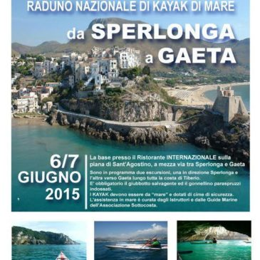 Raduno nazionale Kayak di mare a Gaeta e Sperlonga