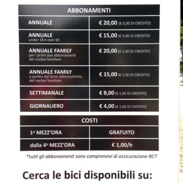 Servizio Bike sharing a Gaeta: ecco la tabella costi definitiva. GRATIS la prima mezz'ora