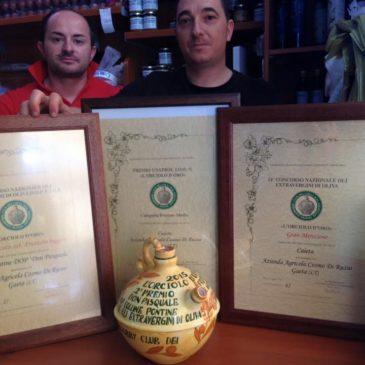 Olio di Gaeta: ancora riconoscimenti nazionali di prestigio