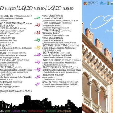 Itri (LT): Programma Estate 2015