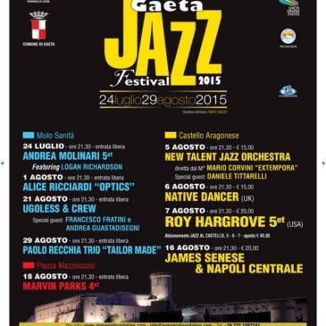 Gaeta Jazz Festival 2015: Si parte il 24 Luglio fino al 29 Agosto – Ecco il programma