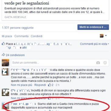 Differenziata a Gaeta: Indignazione sui Social Network – Commenti inaccettabili