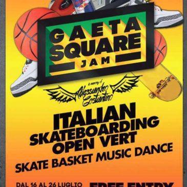 Gaeta Square Jam 2015: dal 16 al 26 Luglio in Piazza Mons. Di Liegro