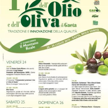 """""""FESTA DELL'OLIO E DELL'OLIVA DI GAETA"""": 24 – 25 – 26 Luglio 2015"""