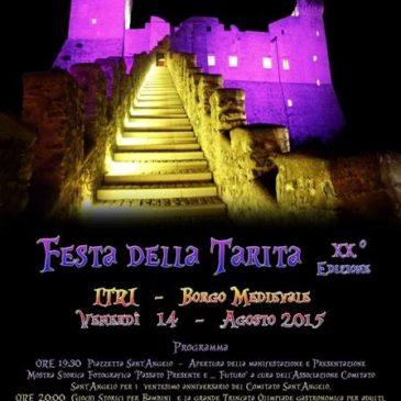 #Eventi ITRI (LT): XX Edizione Festa della Tarita