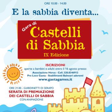 """Oggi a Gaeta: Castelli di Sabbia – IX Edizione di """"E la sabbia diventa…"""""""