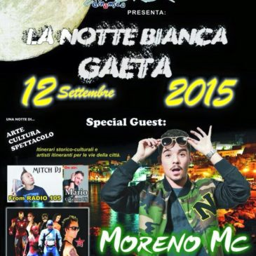 Notte Bianca 2015 a Gaeta: svelato l'artista protagonista dell'evento