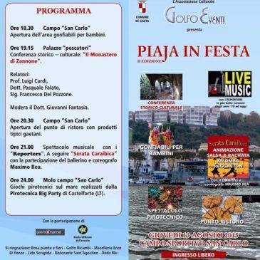 """#Eventi #Gaeta: Seconda edizione della Sagra """"Piaja in Festa"""""""