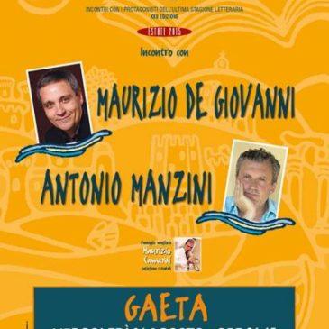 Gaeta: Libri sulla Cresta dell'Onda, terzo appuntamento con De Giovanni e Manzini – INGRESSO LIBERO
