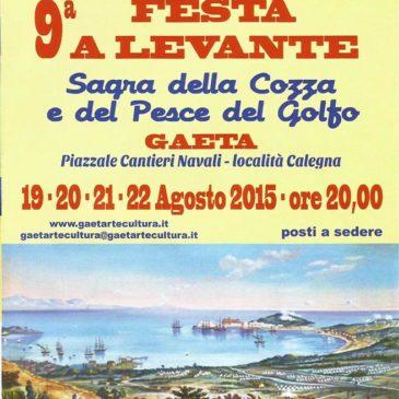 Questa sera a Gaeta: SAGRA DELLA COZZA E DEL PESCE – 9° Festa a Levante