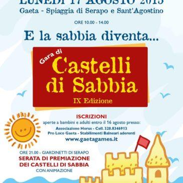 Gaeta: Gara dei castelli di sabbia 2015 – Domani 17 Agosto