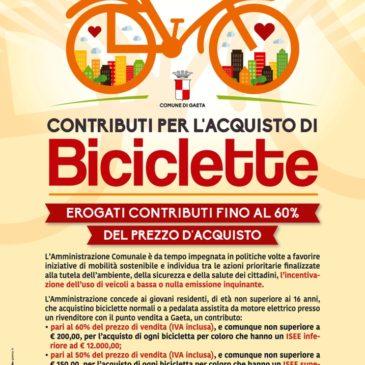 Gaeta: Nuovi contributi per l'acquisto di biciclette – Ecco le Info
