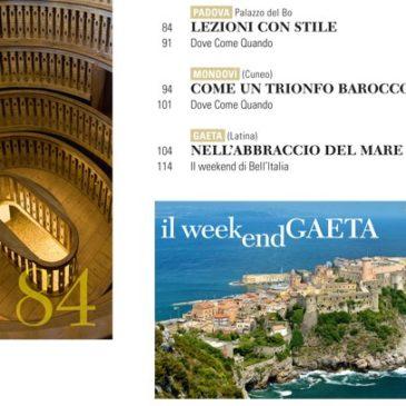 Dicono di noi…Gaeta sulla rivista BELL'ITALIA di Ottobre 2015: Sfoglia il sommario