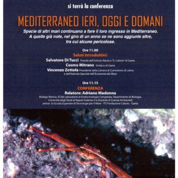 """Gaeta: Conferenza """" MEDITERRANEO IERI, OGGI E DOMANI """""""