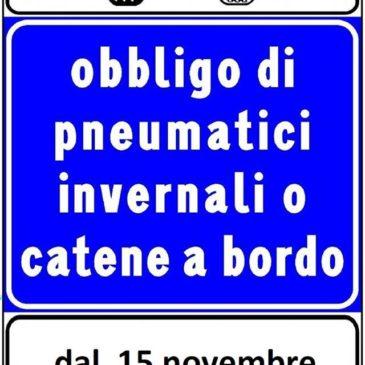 Strade del Lazio: Obbligo delle catene da neve a bordo in quasi tutte le strade