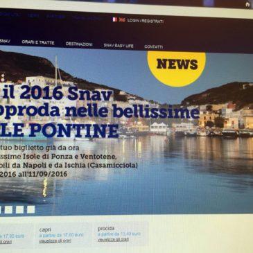 Ponza: Collegamenti anche da Napoli per il 2016