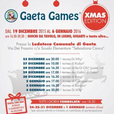 Gaeta Games: edizione Natale 2015 presso la Ludoteca Comunale