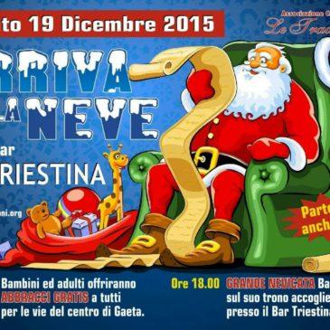 Natale a Gaeta: Sabato 19 Dicembre Nevicata con Babbo Natale per i più piccoli