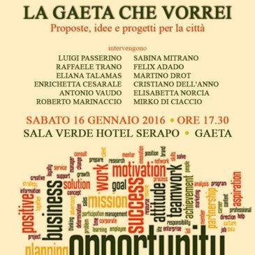 """#Evento Incontro: """"La Gaeta che vorrei"""" – Proposte, idee e progetti per la nostra città"""