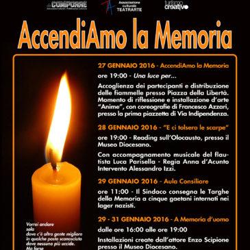 Giorno della Memoria: AccendiAmo la Memoria / Gaeta non dimentica