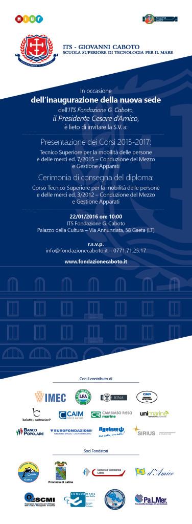 ITS Fondazione Caboto -  Venerdì 22 Gennaio 2016 alle ore 10.00 - Gaeta