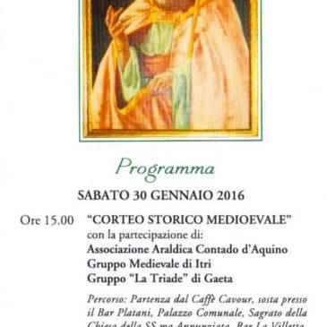 Gaeta: IX Rievocazione di Gelasio II Papa Gaetano / 30 Gennaio 2016