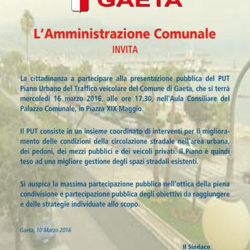 Gaeta PUT, Piano Urbano del Traffico: Mercoledi 16 Marzo la presentazione