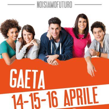 #noisiamofuturo Gaeta Festival dei Giovani: partenza alla grande con 32 eventi il 14 aprile