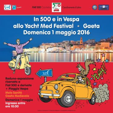 """A Gaeta Medievale il Raduno Nazionale """"FIAT 500 CLUB ITALIA"""""""