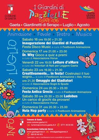 Gaeta: tornano i Giardini di Pazzielle Estate 2016