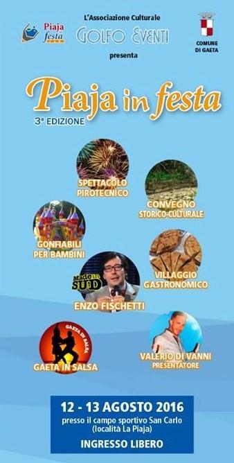 Gaeta: La Piaja in Festa! Ecco il programma con enogastronomia e spettacoli