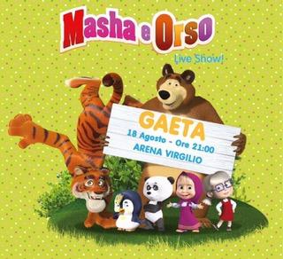 Gaeta: Masha e Orso all'arena Virgilio / Lo spettacolo LIVE per bambini