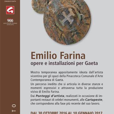 Emilio Farina opere e installazioni per Gaeta. Inaugurazione domenica 30 ottobre alle 11.00