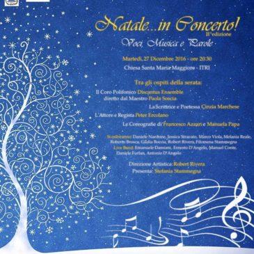 """""""Natale…in Concerto""""! Voci, Musica e Parole torna quest'anno con la sua II^ edizione"""
