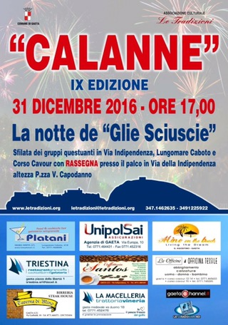 """CALANNE"" a Gaeta: La notte de ""Glie Sciuscie"""