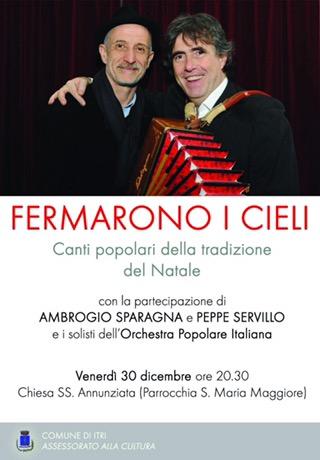 Peppe Servillo e Ambrogio Sparagnacon i Canti popolari del Natale: A Itri