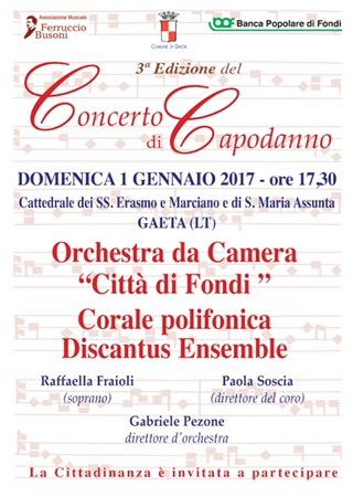Gaeta: Concerto di Capodanno in Cattedrale / 1 Gennaio 2017