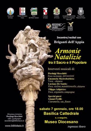"""Concerto: I """"Briganti dell'Appia"""" in Cattedrale a Gaeta"""