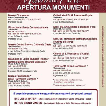 Gaeta: Apertura musei e monumenti a Gaeta