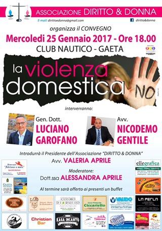 """Da """"Quarto Grado"""" a Gaeta: Il Gen. Garofano e l'Avv. Gentile contro la """"Violenza Domestica"""" in Convegno"""