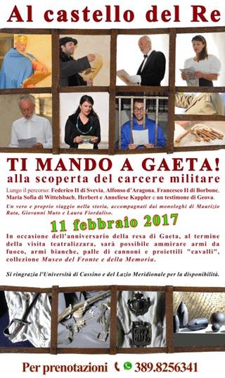 L'11 Febbraio riapre il Castello di Gaeta con grandi novità